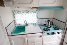 RV Kitchens / RV Kitchens that have been renovated, made over, and decorated.  Tips for cooking and organizing a RV Kitchen