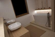 Kúpeľne s drevom