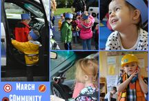 March Community Helpers / March theme at the co-op is all about community helpers!