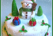 Christmas & Winter Cakes  / In England, the Christmas cake has traditionally taken centre stage at the Christmas Tea Table. Nowadays of course it is complimented by cupcakes and pops etc and the traditional rich fruit cake is often replaced by something lighter, but still decorated. - You might like to take a peek at my many other Cake & Party Boards ... lots of great party ideas to choose from!