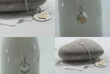 Sterling silver hand stamped pendant with chain / Beautiful to celebrate summer