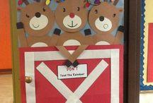 Porte de classe Noël