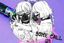 Psycho Sisters / If you hurt my sister I'll kill you. I swear I'll kill you all