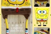 Sponge bob hat crochet