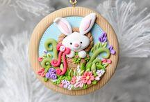 Easter- Polymer clay, Fimo, Porcelana fria - Velikonoce