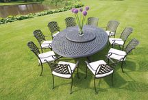 Bramblecrest Garden Furniture... Black Aluminium Dining Sets / Bramblecrest powder-coated aluminium furniture is rust-free, easy to clean and can be left outside throughout the season withminimal maintenance required. http://www.bramblecrest.com/products/226-all/