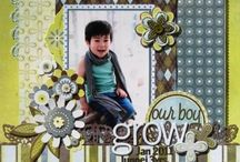 Scrapbooking layout: For boys