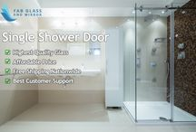 Shower Door / Looking for single shower door ? Fab Glass and Mirror provide highest quality glass shower door at affordable price + free shipping nationwide delivery. Shop Now https://www.fabglassandmirror.com/customcut/doors