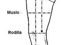 Medidas toma Pantalon y Patrones