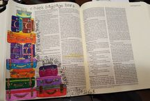 Drawing on Faith / Bible Art Journaling at MUMC in Oak Ridge, NJ. Some are original, some have been pinspired!