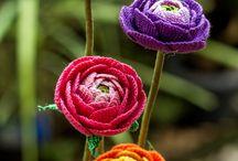 Horgolt virágok/ Crochet flowers
