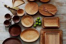 tableware.  Wood/Urushi 木製 漆器
