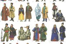 Tradishional dress. illustracions