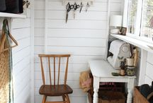 the sewing room / this is an inspiration board for my cozy little sewing room.