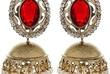 Traditional Wedding Party Indian Bollywood Vidya Balan Inspired Jhumka Jhumki