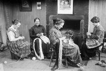 people at knitting