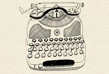 illustration typewriter