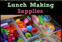 Lunch making supplies /lunch ideas for kids