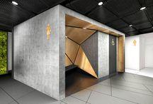 Zlote Tarasy Toilets 01 / Design of the interior for public toilets and corridors in SC Złote Tarasy, stage 01.
