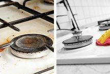 Чистим кухню плиту