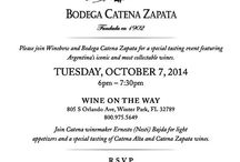 "Catena Zapata - Meet the Winemaker Event! / On October 7th we're hosting the winemaker Ernesto ""Nesti"" Bajda for a special wine tasting event!"