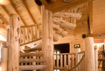 Log Home Interiors / Beautiful interiors of log cabins, log homes and timber frames.