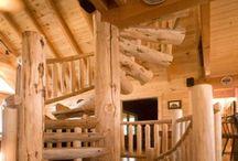 Log Home Interiors / Beautiful interiors of log cabins, log homes and timber frames. / by LogFinish.com
