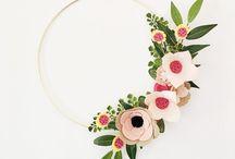 couronne de fleur papier