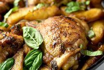 Balsamic peach basil & chicken