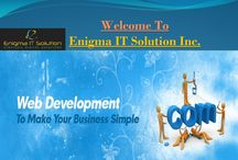 Website Designing and Development, Promotion / Enigma IT Solution Inc. is providing professional web designing and SEO friendly web development service as well as web marketing solutions at very cost effective price.