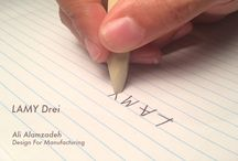 Drei / Drei pen design for LAMY by Ali Alamzadeh