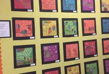 Marc Chagall Art projects for kids & K-8 students / Marc Chagall - The students explore patterns and color theory in this lesson learning about Marc Chagall (1887-1985).Timed, illustrated & scripted lessons