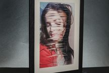 Legàmi / Photo weaving project about relationship between mother and daughter.