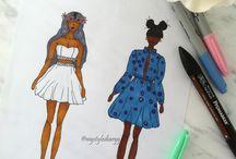 FASHION SKETCHES / My fashion sketches