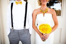Gray & Yellow / Gray and Yellow made a big splash this year in wedding color palettes. See how you can build your wedding around this delightful duo