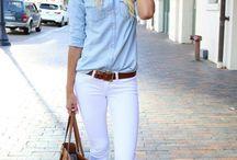 Beyaz pantolon konbinleri