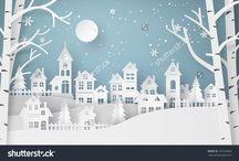 Зимний плакат