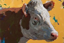People Like Cows / These paintings of #cows are inspired by growing up in rural upstate New York. The title came from David Lynch.