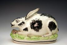 Early animal pottery and modern Staffordshire style