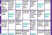 Triathlon trening.
