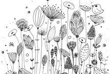 Doodles floral