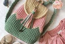 crochet bag handbag tote clutch purse