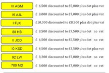 Special offers on Reg Plates / November monthly offers - for extra special offers please visit website