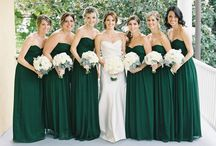 Green Weddings / weddings with a green color scheme