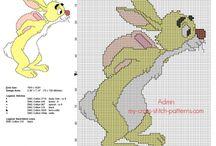 Schemi punto croce cartoni animati / Schemi punto croce cartoni animati, da scaricare gratuitamente, gratis, ricamare, ricamo.
