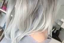 Long grey bob