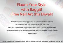 Get Beautiful with Baggit this Diwali! / This Festive Season Baggit gives you a chance to have a Mini-Makeover! Walk into our Exclusive Baggit Bangalore Commercial Store Outlet from 31st Oct to 2nd Nov between 4pm to 9:30pm and have your Nails done by a Professional Nail Art Artist!  Post up a Picture of your Nails done at Baggit on Instagram with #baggitfashion. Best designed Nail will win Fabulous Baggit Goodies.