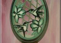 Eggshell carving / mosaics / art