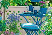 Environments / A garden can be...  a nest for lovers or a terrace zen, a corner for children to play or organize dinners with friends.