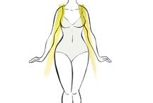 Sylwetka A / Charakterystyka: - szczupła linia pod biustem - mocne biodra - masywne uda